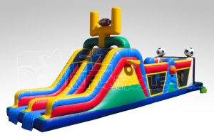 40 ft sports obstacle course theme