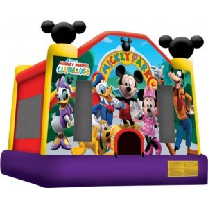 Mickey Mouse Club house.  Bounce House.